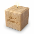 "4"" PALM WAX CANDLE : MERRY CHRISTMAS"