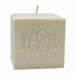 "4"" PALM WAX CANDLE : MONOGRAM"