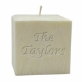 """4"""" PALM WAX CANDLE : NAME & PHRASE"""
