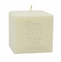 "4"" SOY BLEND CANDLE : BULLDOG"
