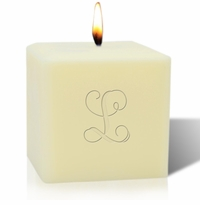 "4"" SOY BLEND CANDLE : INITIAL"
