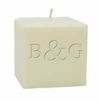 "4"" SOY BLEND CANDLE : INITIAL & INITIAL"