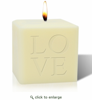 "4"" SOY BLEND CANDLE : LOVE"