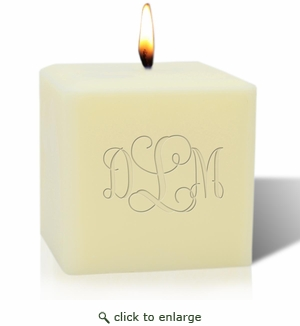 "4"" SOY BLEND CANDLE : MONOGRAM"