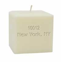 "4"" SOY BLEND CANDLE : PERSONALIZED ZIP CODE"
