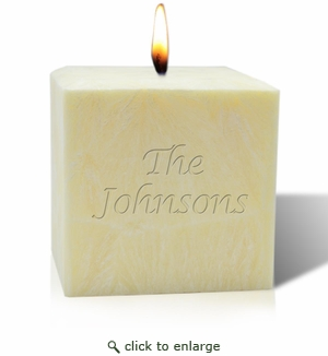 "4"" UNSCENTED PALM WAX CANDLE : NAME OR PHRASE"