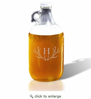 64oz GROWLER : PERSONALIZED ANTLER MOTIF