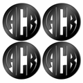 Acrylic Coaster Set of 4 BLACK
