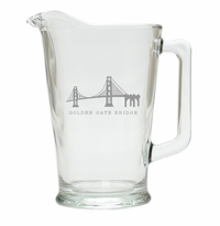 AMERICAN LANDMARK PITCHER  (GLASS)