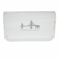 AMERICAN LANDMARK SERVING TRAY WITH HANDLES