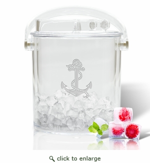 ANCHOR ICE BUCKET WITH TONGS