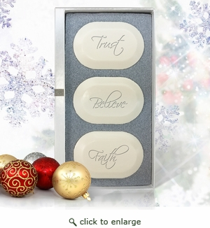 Ashley Jones Eco Luxury Trio Trust, Believe, Faith