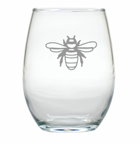BEE WINE STEMLESS TUMBLER - SET OF 4 (GLASS)