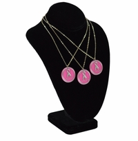 BREAST CANCER PENDANT WITH SILVER CHAIN