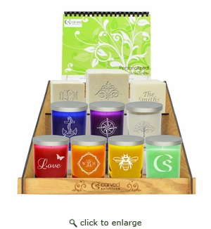 Carved Solutions Personalized Candle Retail Program