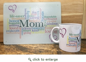 Case Pack Mom Mug and Glass Cutting Board