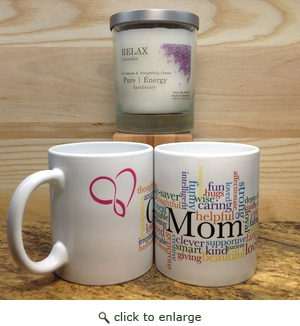 Case Pack Pure Energy Apothecary Lavender  Candle and Mom Mug Set