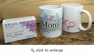 Case Pack Pure Energy Apothecary Lavender soap and Mom Mug Set