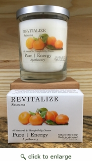 Case Pack Pure Energy Apothecary Satsuma Soap and Candle Set