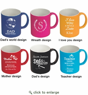CERAMIC MUG : ASSORTED COLORS