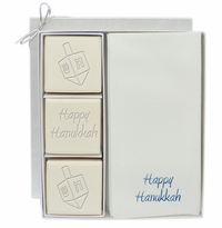COURTESY GIFT SET : BLUE or SILVER DREIDEL MIX