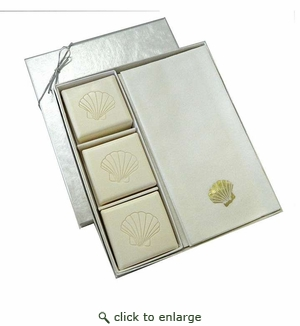 COURTESY GIFT SET : GOLD SCALLOP