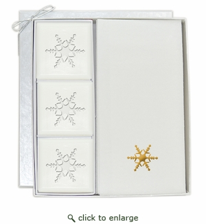 COURTESY GIFT SET : GOLD SNOWFLAKE