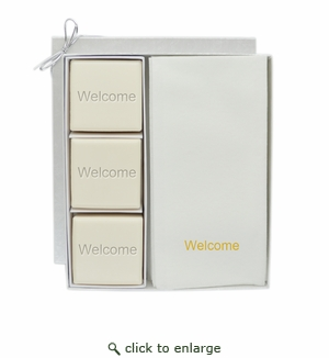 COURTESY GIFT SET : GOLD WELCOME