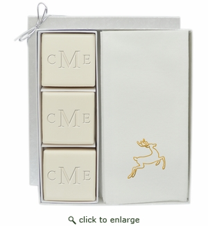 COURTESY GIFT SET : MONOGRAM and GOLD DEER