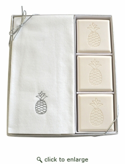 COURTESY GIFT SET : SILVER PINEAPPLE