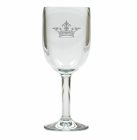 CROWN WINE STEMWARE - SET OF 4 (Unbreakable)