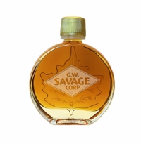 CUSTOM LOGO Certified Organic Vermont Maple Syrup Medallion Glass (50 ml) Case of 24