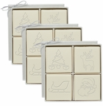 ECO-LUXURY : 3 SETS of 4 SQUARE CHRISTMAS MIX GUEST BARS
