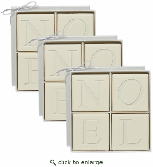 ECO-LUXURY : 3 SETS of 4 SQUARE NOEL GUEST BARS
