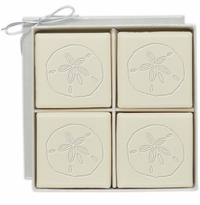 ECO-LUXURY : 4 SQUARE GUEST BARS SAND DOLLAR MOTIF
