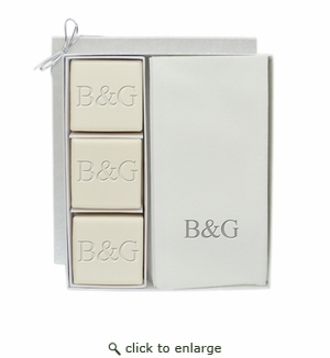 ECO LUXURY & SIGNATURE SPA: COURTESY GIFT SET : INITIAL & INITIAL IN SILVER