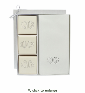 ECO LUXURY & SIGNATURE SPA: COURTESY GIFT SET : MONOGRAM IN SILVER