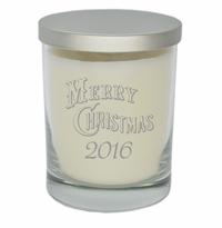 ECO-LUXURY SOY CANDLE: MERRY CHRISTMAS w/ YEAR