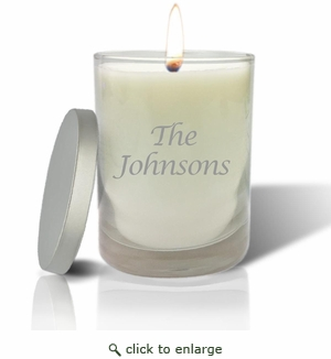 ECO-LUXURY SOY CANDLE: NAME or PHRASE