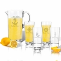 Entertaining Set: Tritan Pitcher and High Ball Glasses 16 oz (Set of 4) : Nautical  with Name