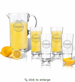 Entertaining Set: Unbreakable pitcher and four highball glasses : Sports Bar & Grill