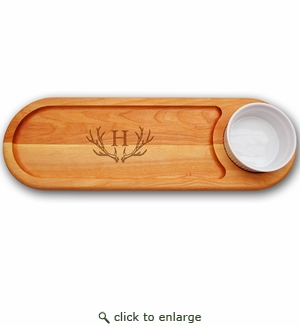 EVERYDAY BOARD: DIP & SERVE PERSONALIZED ANTLER MOTIF
