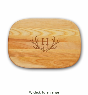 EVERYDAY BOARD: MEDIUM PERSONALIZED ANTLER MOTIF