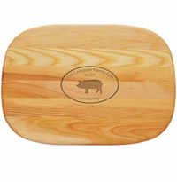 """EVERYDAY BOARD: 15"""" x 10"""" MEDIUM PERSONALIZED: Family Grill"""