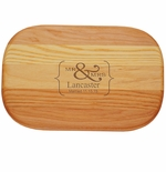 """EVERYDAY BOARD: 10"""" x 7"""" SMALL PERSONALIZED MR & MRS"""