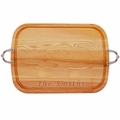"EVERYDAY COLLECTION: 21"" x 15"" LARGE SERVING TRAY WITH NOUVEAU HANDLES"