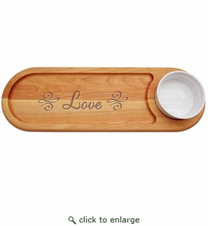 "EVERYDAY COLLECTION: 21""x 7"" DIP AND SERVE  BOARD: LOVE KNOT"