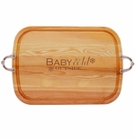 EVERYDAY COLLECTION: LARGE SERVING TRAY WITH NOUVEAU HANDLES BABY IT'S COLD OUTSIDE
