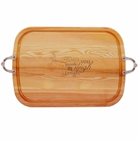 EVERYDAY COLLECTION: LARGE SERVING TRAY WITH NOUVEAU HANDLES GUIDE MY SLEIGH