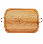 EVERYDAY COLLECTION: LARGE SERVING TRAY WITH NOUVEAU HANDLES MOST WONDERFUL TIME